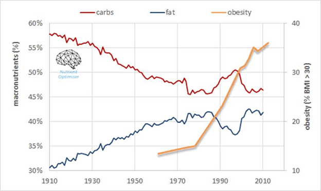 carb and fat vs obesity
